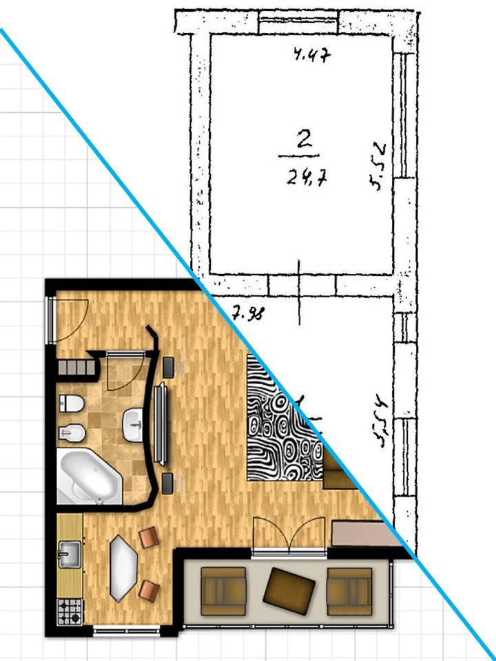 Проект планировки должен быть стильным и информативным